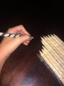 Pencils with shaved-in grips. Set of 12